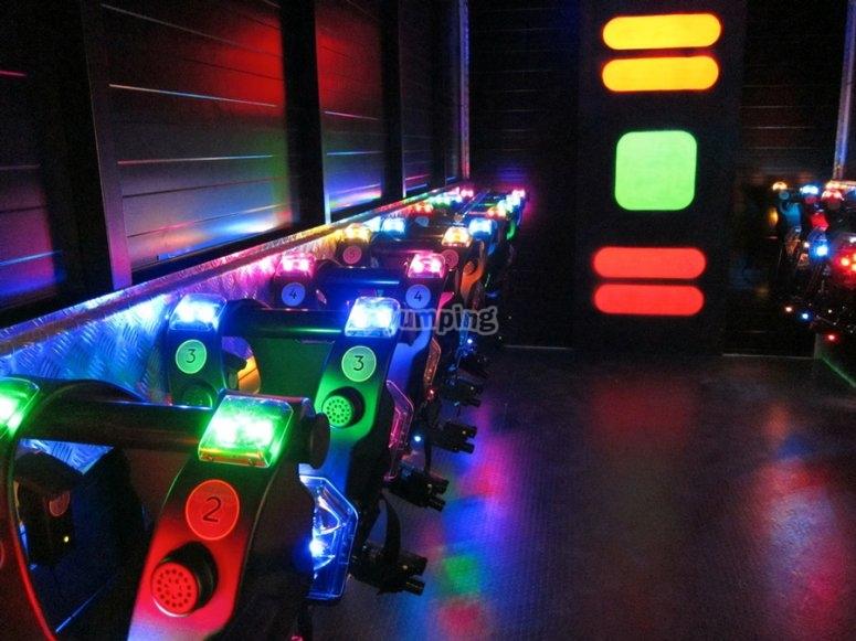 Chalecos luminosos de laser tag