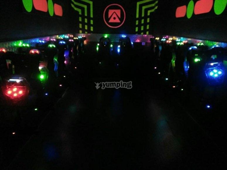 Laberinto con luces y musica
