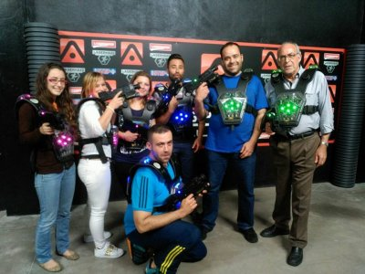 Laser tag match at Valencia
