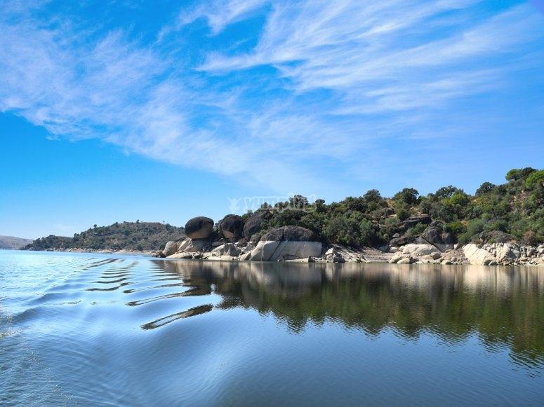 Navegando desde Alcantara al rio Alagon