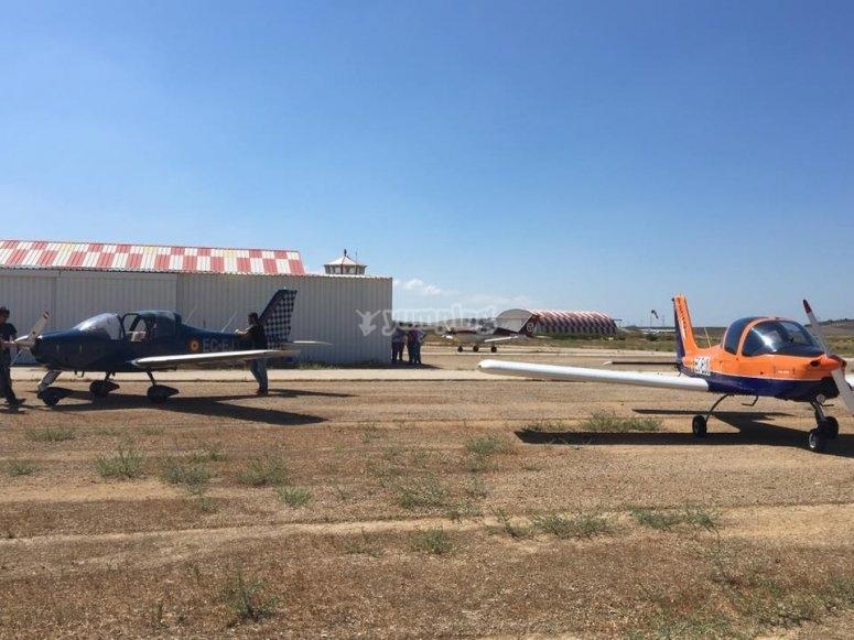 Avionetas en la Juliana