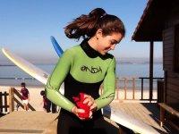 Antes de practicar surf