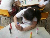 Pintando coloridos dibujos