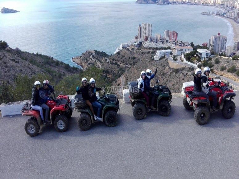 Excursion en vehiculos de cuatro ruedas