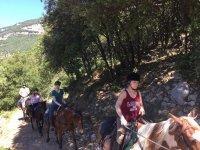 Subiendo la cuesta a caballo