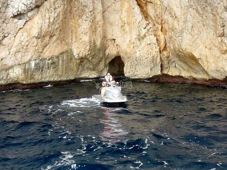 En la moto de agua por el Mediterraneo