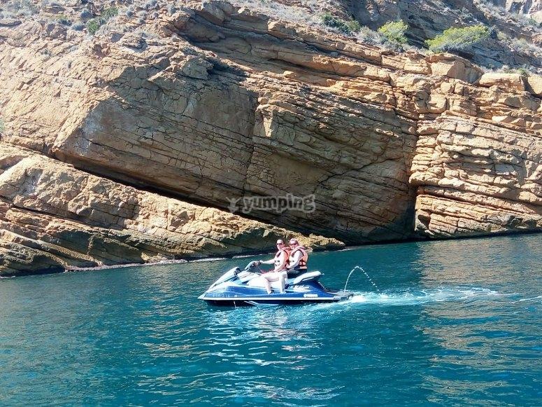 Salida en moto de agua con guia
