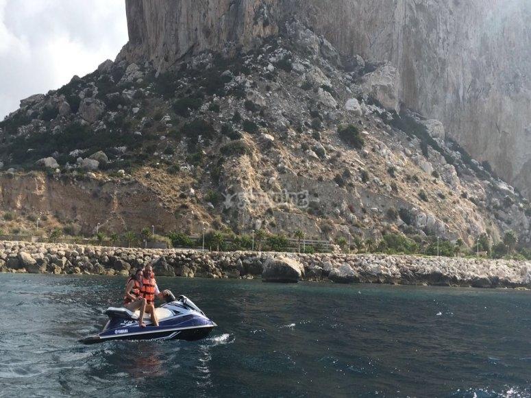 Moto biplaza de agua para navegar