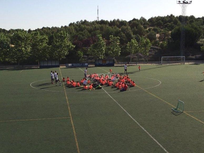 伟大的足球场训练