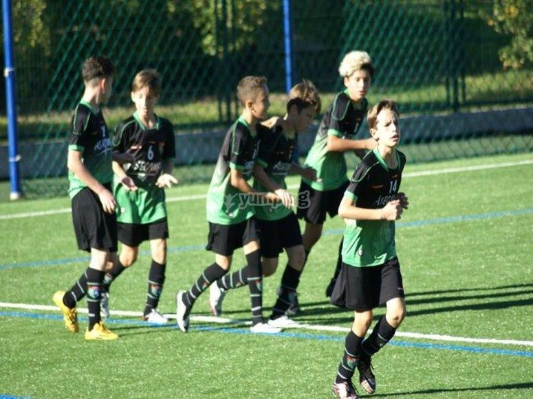 Entrenado para mejorar la tecnica futbolistica