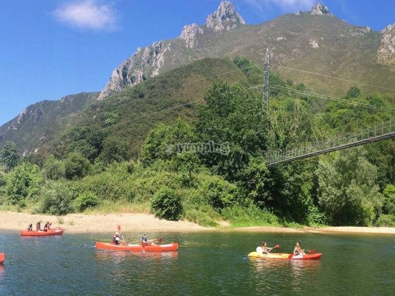 Vistas de los montes asturianos