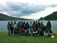 Grupo de visita en la naturaleza