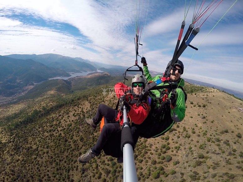 Volando sobre la sierra de Madrid
