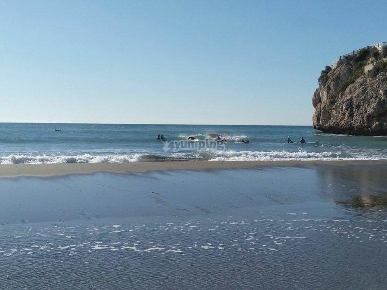 Sup en las playas de Malaga