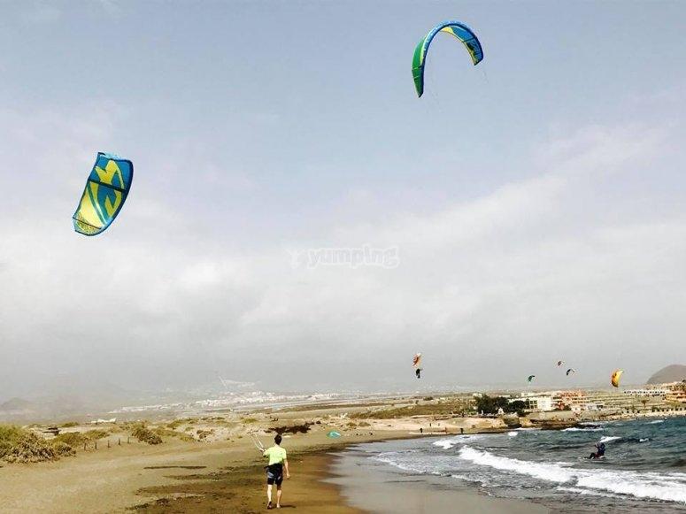 特内里费岛海滩风筝