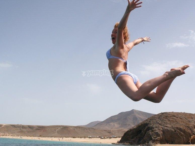 Saltare all'acqua