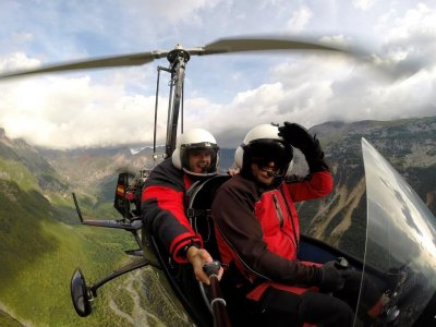 Gyroplane initiation flight, Aínsa, 25 minutes