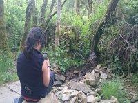Haciendo una foto en plena naturaleza