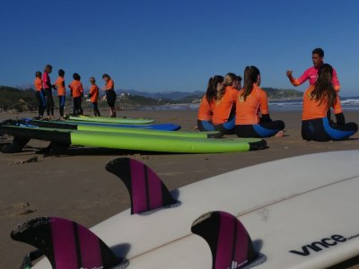 Basic surfing course in Cantabria