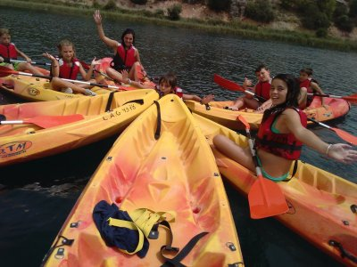 Kayak y senderismo en Ruidera para escolares