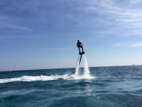 Leaning to the side on the flyboard