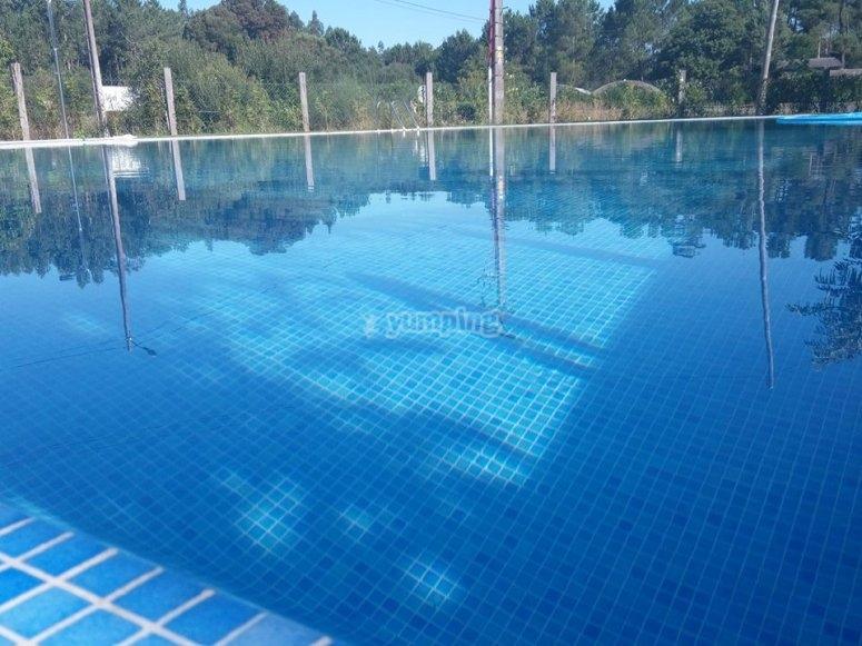 Juegos en la piscina en verano