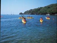 皮划艇前往Cala Montjoi