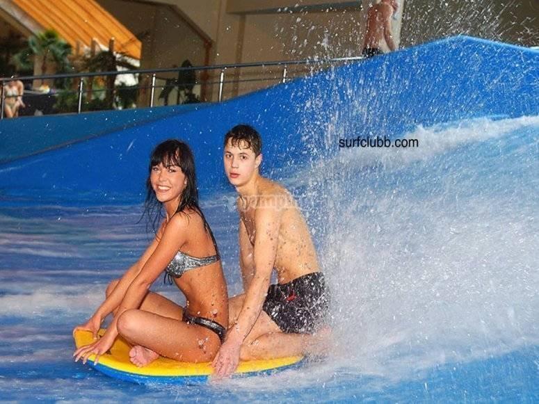 bodyboard en pareja