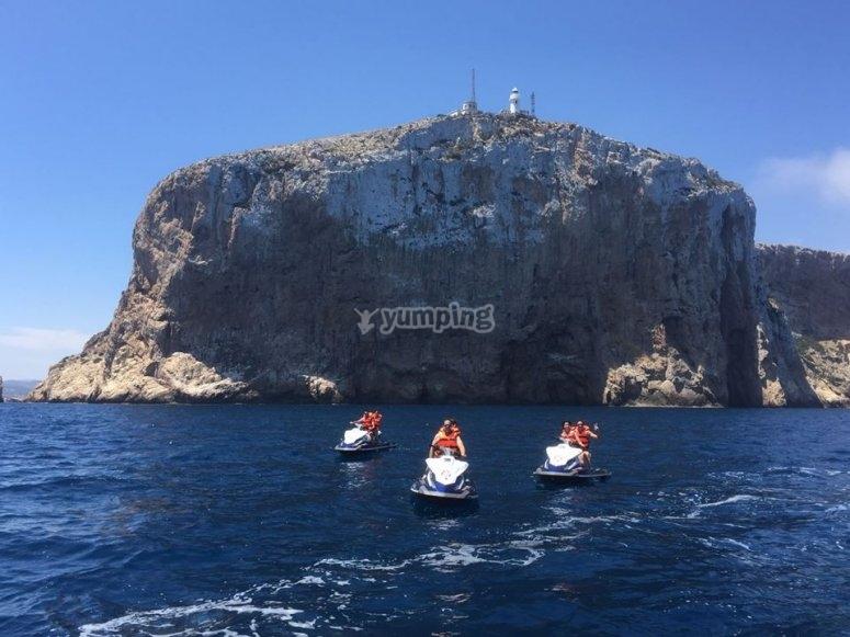 Ruta en verano por el Mar Mediterraneo