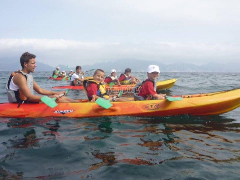 Salidas en kayaks triplaza