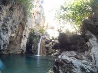 Barranquismo en el río Lentegí en Granada
