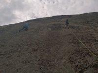 Saludando durante la escalada