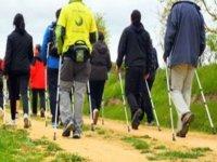 personas de espaldas caminando con bastones