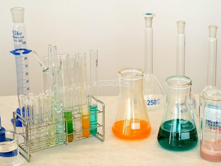 Fijaros en los detalles del laboratorio