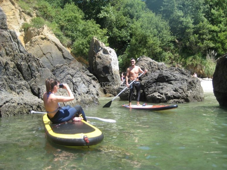 Stand up paddle en Oleiros