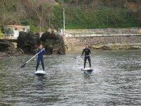 Paddle surf en pareja por el norte