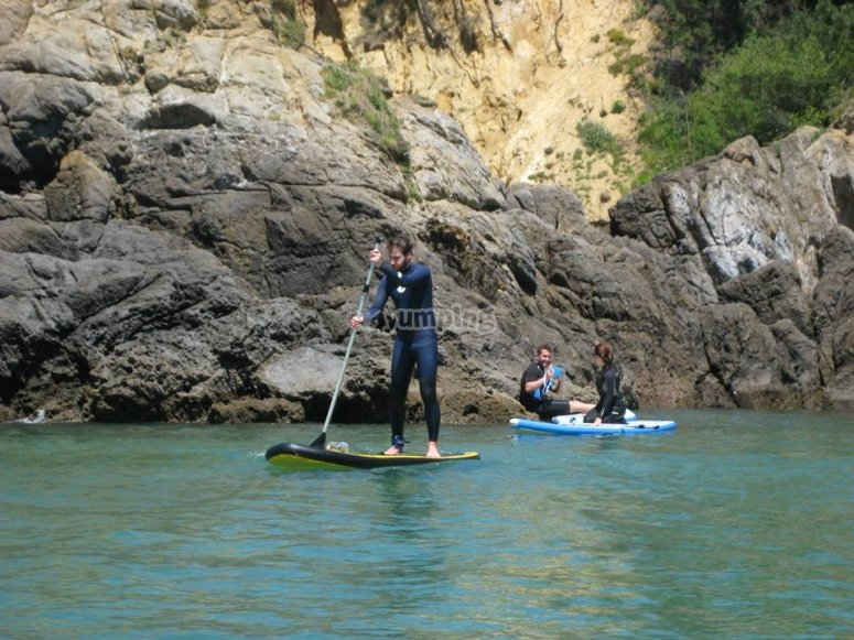 Stand up paddle con monitor