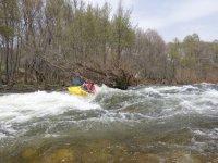 Rápidos del Tiétar en kayak