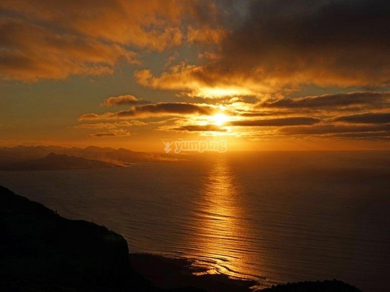 Increíbles puestas de sol en Canarias