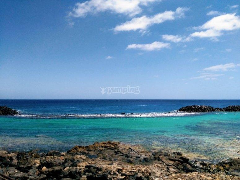 Salida en moto de agua biplaza por playas de Lanzarote