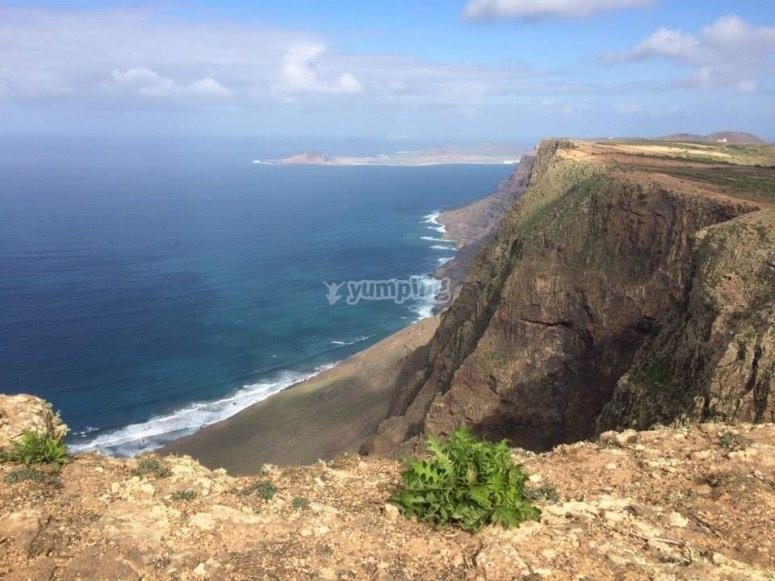 Vistas desde las alturas de la isla