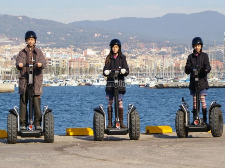 Enjoy the segway in the nature