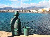 Estatua pescador en Gran Canaria