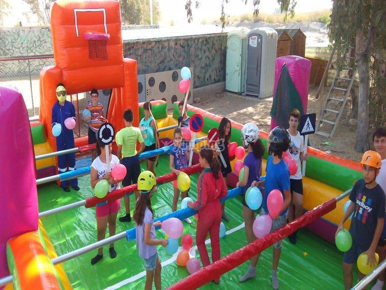 Jugando con globos