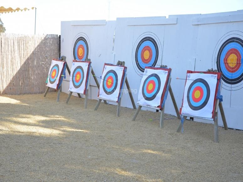 Varias dianas para el tiro con arco