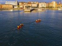 Kayaks to the sunset in Gijón