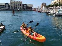 Children on board the kayak