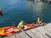 A partire dal kayak da porto