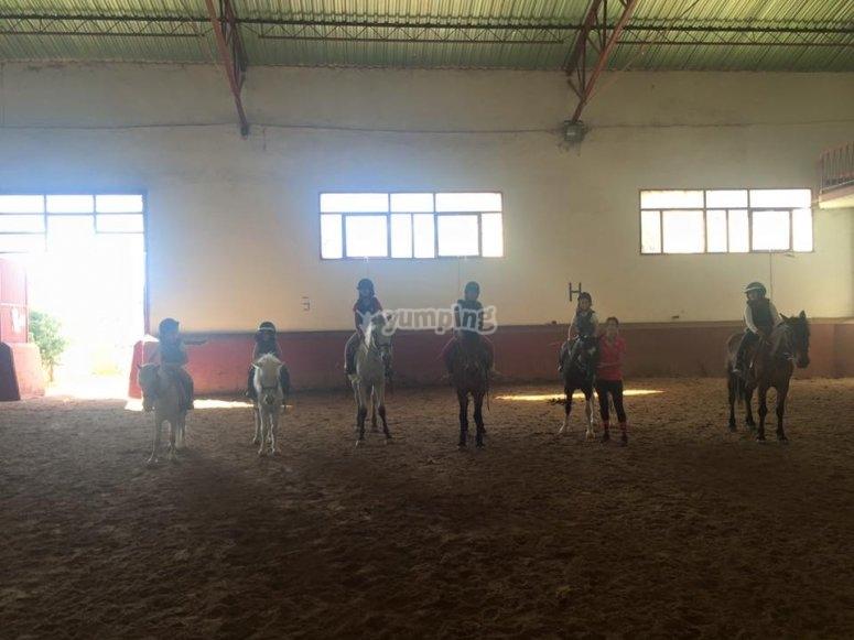 Equitacion con los peques