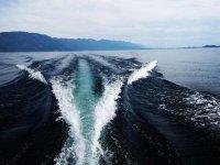 Sailing on the Asturian coast